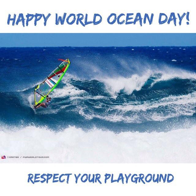 Happy World Ocean Day! Respect your playground #worldoceanday #respectyourplayground #waterwoman #oceanlover #mermaid #protect #windsurfer #windsurfing #alohaclassic #pwaworldtour